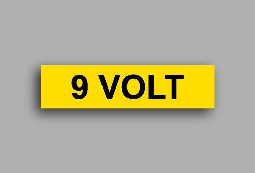 Etichette per impianti elettrici | 9 Volt