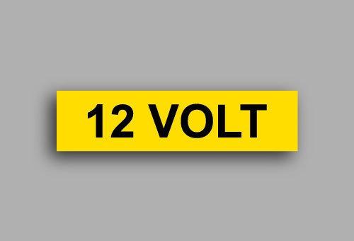 Etichette per impianti elettrici | 12 Volt