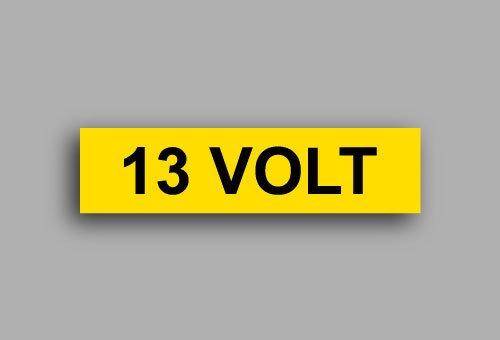 Etichette per impianti elettrici | 13 Volt