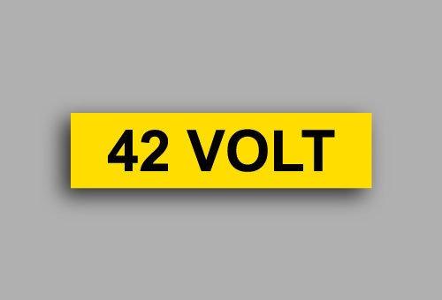 Etichette per impianti elettrici | 42 Volt