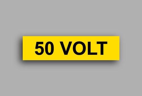 Etichette per impianti elettrici | 50 Volt