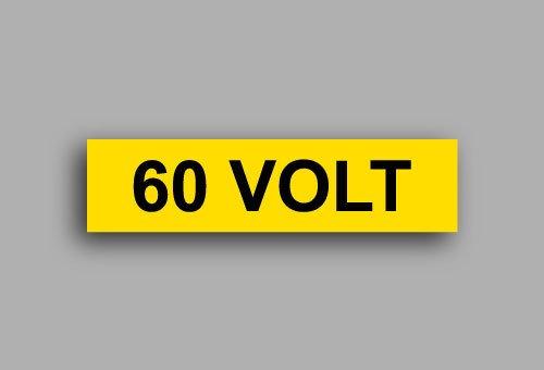 Etichette per impianti elettrici | 60 Volt