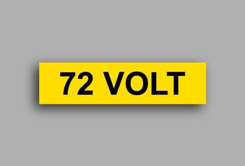 Etichette per impianti elettrici | 72 Volt
