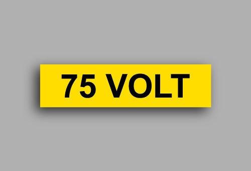 Etichette per impianti elettrici | 75 Volt