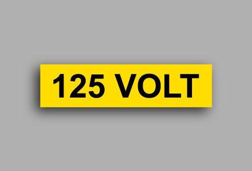 Etichette per impianti elettrici | 125 Volt