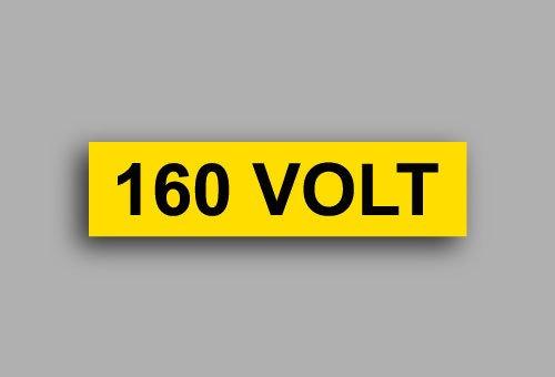 Etichette per impianti elettrici | 160 Volt