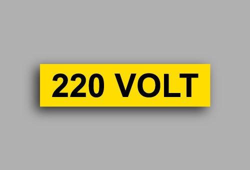 Etichette per impianti elettrici | 220 Volt
