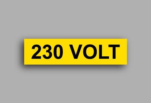 Etichette per impianti elettrici | 230 Volt