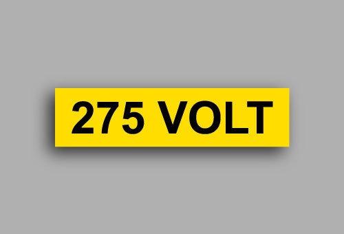 Etichette per impianti elettrici | 275 Volt