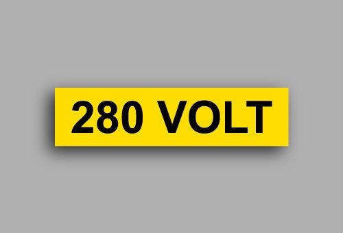 Etichette per impianti elettrici | 280 Volt