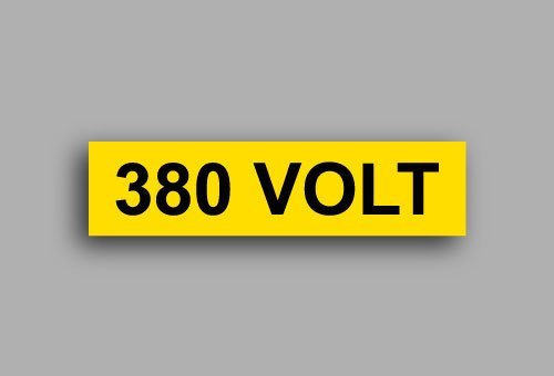 Etichette per impianti elettrici | 380 Volt