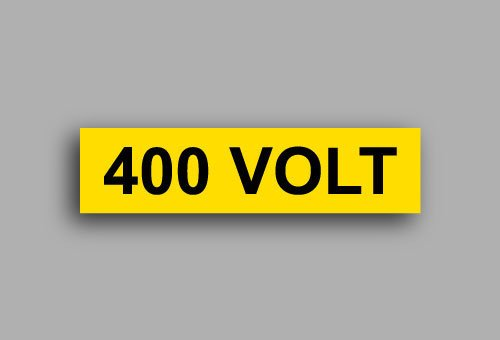 Etichette per impianti elettrici | 400 Volt