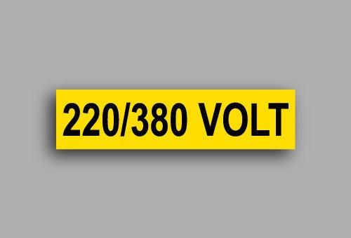 Etichette per impianti elettrici | 220/380 Volt