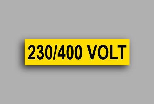 Etichette per impianti elettrici | 230/400 Volt
