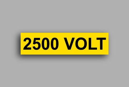 Etichette per impianti elettrici | 2500 Volt