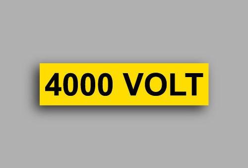 Etichette per impianti elettrici | 4000 Volt