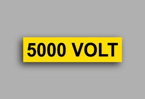 Etichette per impianti elettrici | 5000 Volt