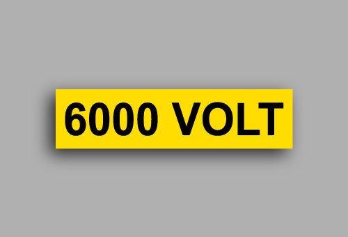 Etichette per impianti elettrici | 6000 Volt