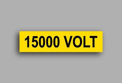 Etichette per impianti elettrici | 15000 Volt