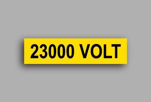Etichette per impianti elettrici | 23000 Volt