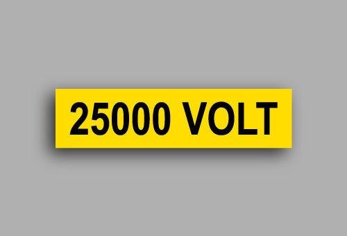 Etichette per impianti elettrici | 25000 Volt
