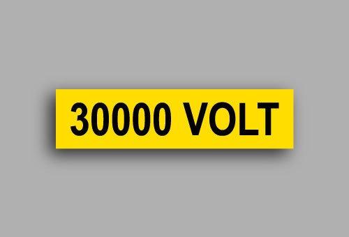 Etichette per impianti elettrici | 30000 Volt