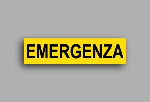 Etichette per impianti elettrici | Emergenza