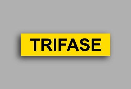 Etichette per impianti elettrici | Trifase