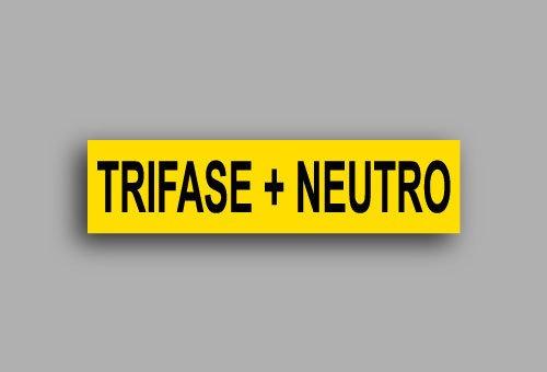 Etichette per impianti elettrici | Trifase + neutro
