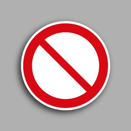 Pittogramma ISO 7010 P001 etichetta con simbolo di divieto generico
