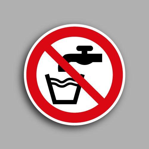 Etichetta con simbolo ISO 7010 P005 | Vietato bere acqua non potabile