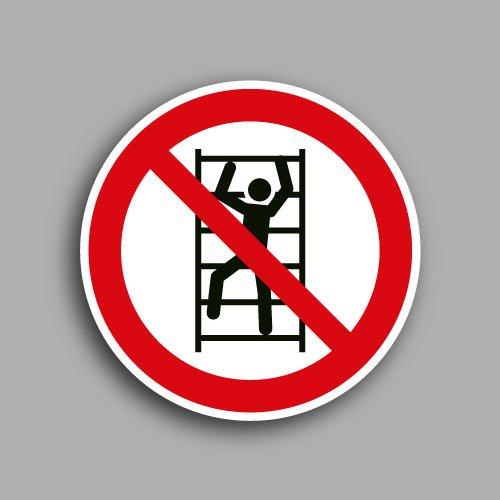Simbolo ISO 7010 P009 | Vietato arrampicarsi sugli scaffali