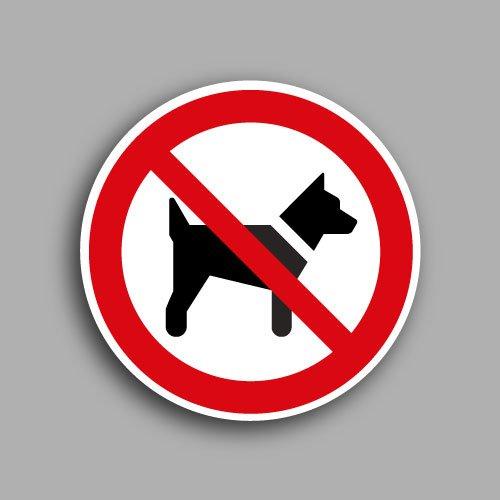 Etichetta con simbolo ISO 7010 P021 | Vietato l'accesso ai cani