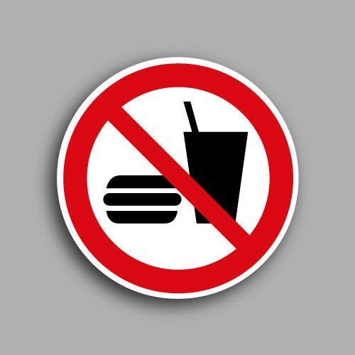 Etichetta con simbolo ISO 7010 P022 | P022 | Vietato mangiare e bere