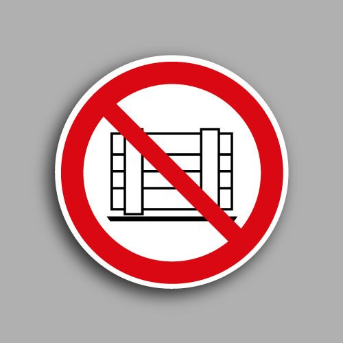 Etichetta con simbolo ISO 7010 P023 | Vietato ostruire il passaggio