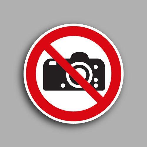 Etichetta con simbolo ISO 7010 P029 | Vietato fotografare