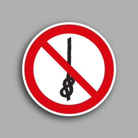 Etichetta con simbolo ISO 7010 P030 | Vietato annodare la corda