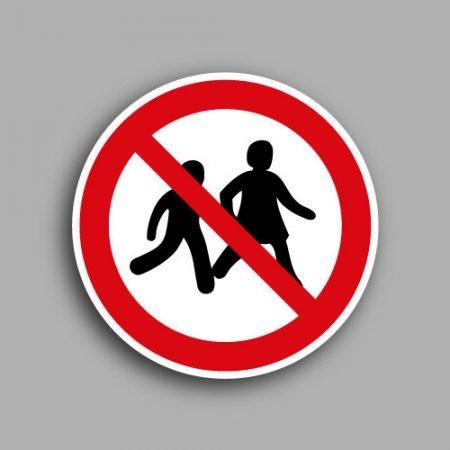 Etichetta con simbolo ISO 7010 P036 | Vietato l'accesso ai bambini