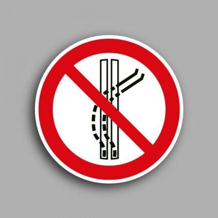 Simbolo ISO 7010 P037 | Vietato staccarsi dallo ski-lift