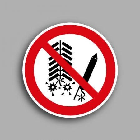 Etichetta con simbolo ISO 7010 P040 | Vietato utilizzare fuochi d'artificio