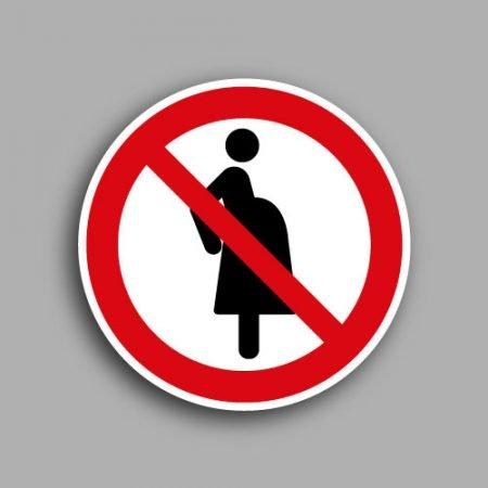 Etichetta con simbolo ISO 7010 P042 | Vietato l'accesso alle donne in gravidanza