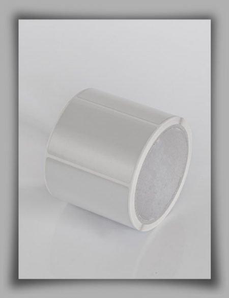 Etichette in poliestere adesivo metallizzato opaco su rotolo per stampanti a trasferimento termico