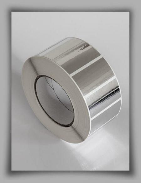 Rotolo di etichette neutre antimanomissione void per stampa a trasferimento termico