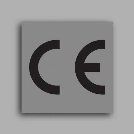 Etichetta quadrata con simbolo CE