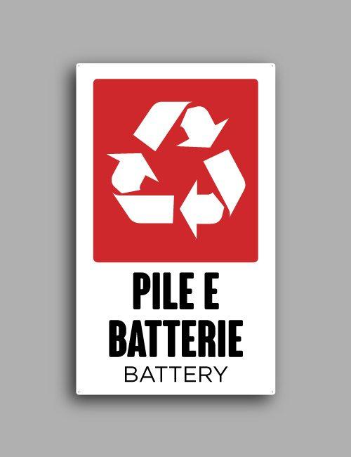 Cartello raccolta differenziata | Pile e batterie