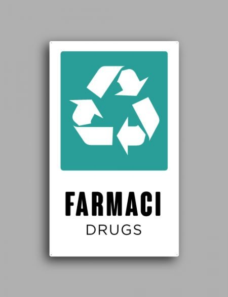 Cartello raccolta differenziata | Farmaci