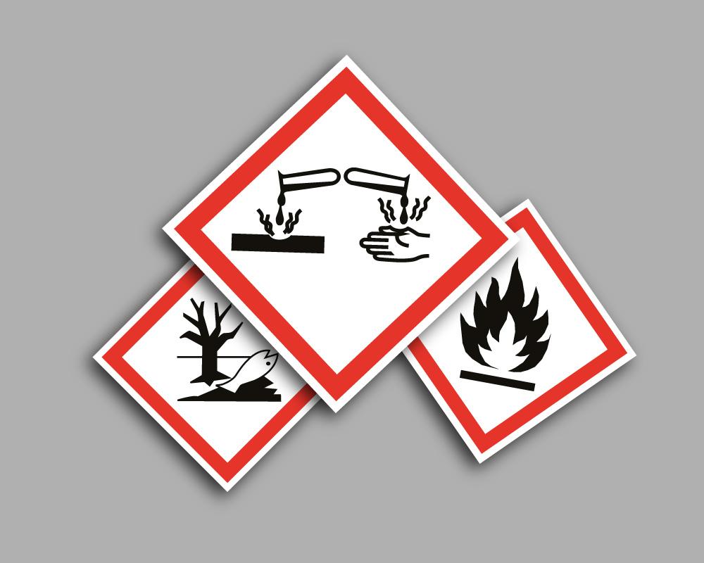 Pittogrammi di pericolo GHS