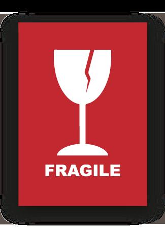 Etichetta adesiva | Simbolo e testo fragile