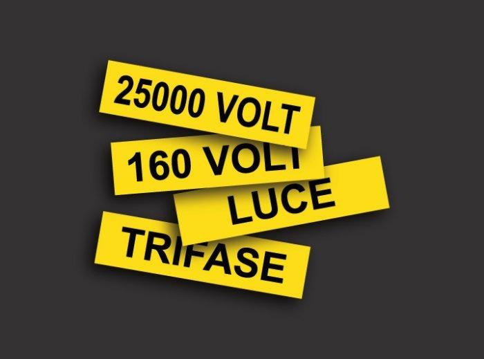 Etichette adesive per quadri elettrici