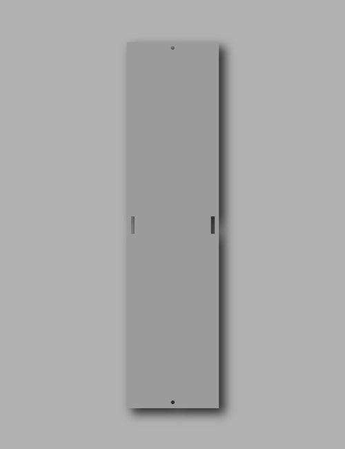 Targhetta in alluminio per pali illuminazione pubblica